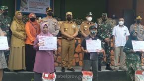 Selain Pastikan PPKM Level IV Beltim Berjalan Baik, Gubernur Juga Salurkan Bantuan