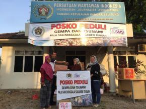 Ketua DPW Garnita Nasdem Salurkan bantuan melalui PWI Babel