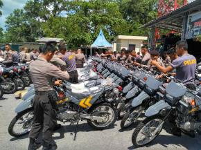 Direktorat Sabhara Polda Babel Terima Bantuan Motor Patroli Trail Dan Kelengkapan Lainnya