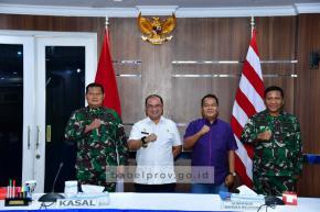 Gubernur Babel Datangi Mabes TNI AL, Sampaikan Terima Kasih