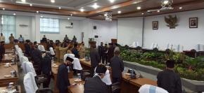 Rapat Paripurna DPRD Bangka penyampaian rancangan kebijakan umum anggaran