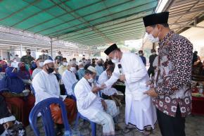 Tak Mampu Lagi Tampung Jemaah, Masjid Sirotul Mustaqim Diperluas  Gubernur Babel Letakkan Batu Pertama