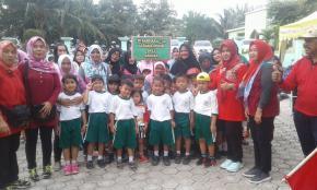 Halaman Gedung Serbaguna Kodim 0413/BKA Ramai Dipadati Anak-anak TK
