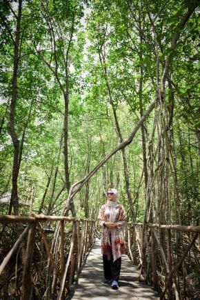 Hutan Mangrove Leguk Bulan Jadi Tujuan Melati Explorer di Muntok