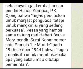 """""""Untuk Johan Murod sang Wartawan Senior, Sebut Berita Wartawan Bikin Gaduh"""""""