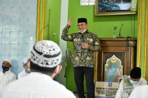 Safari Jumat Gubernur Erzaldi Bantu Pembangunan TPA Masjid Al-Mujahiddin