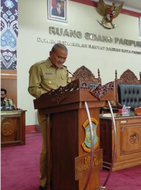 Wakil Walikota Sampaikan Tiga Raperda Pada Rapat Paripurna DPRD Kota Pangkalpinang