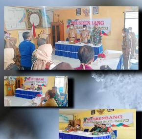 Dukung Perencanaan Pembangunan di Wilayah, Serda Hendri Hadiri Musrenbang Kelurahan Paal Satu