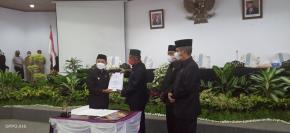 DPRD Bangka Gelar Paripurna Pengesahan Raperda LPJ APBD Pemkab Bangka 2020