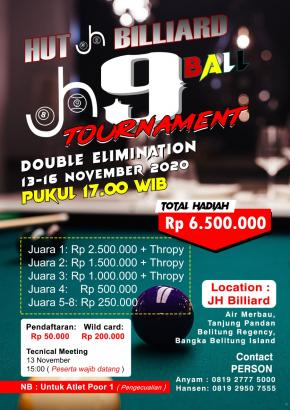 Sambut HUT yang ke-6, JH Billiard Adakan 9 Ball Tournament