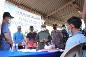 PPKM Mikro Mulai Berlaku Di Desa Belo Laut, Gubernur Erzaldi Pantau Pelaksanaannya