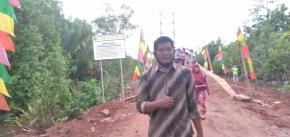 Jembatan Gantung Penghubung Desa Labuh Air Pandan - Kota Kapur Permudah Akses Ekonomi dan Pendidikan