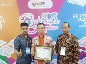 Pemkab Bangka Terima Nasional Procurement Award 2018