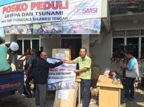 Posko PWI Babel Terima Bantuan Kemanusiaan dari IKT
