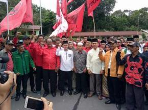 Takbir Iringi Langkah Mulya Daftar Ke KPU Bangka