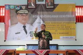 Gubernur Erzaldi Hadiri MoU SMK 1 Manggar dan Perangkat Daerah Belitung Timur