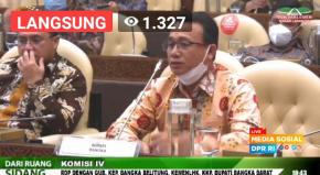 Erzaldi Singgung Tragedi Sijuk di Depan Komisi IV DPR RI