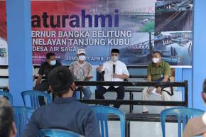 Bertemu Warga Nelayan Desa Air Saga, Gubernur Erzaldi Berikan Solusi Pasti