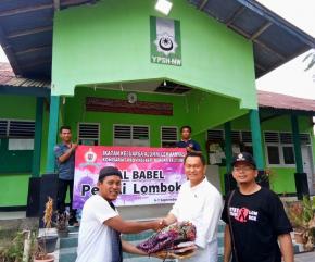 Peduli Korban Gempa Lombok, IKAL Komisariat Babel Salurkan Bantuan
