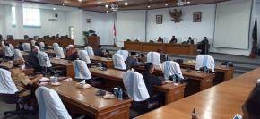 Rapat Paripurna Penyampaian Hasil Reses Anggota DPRD Ke Pemkab Bangka