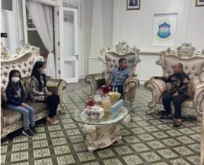 Walikota Pangkalpinang Menerima Kunjungan Komandan Lanud H. AS Hanandjoeddin, Letkol Nav Rudy Hartono