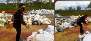 Diduga ilegal, Ratusan Ton Zirkon Siap Dikirim Dari Belitung Dalam Pengawasan Sat Pol PP Provinsi Bangka Belitung