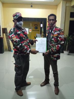 Ketua LMP Babel Versi Erfil Manurung Dilapor ke Mapolda atas Aksi Pengerusakan