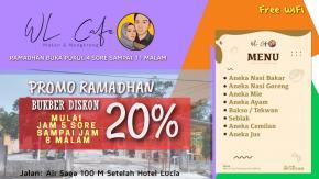 Selama Ramadhan WL Cafe Berikan Diskon 20 Persen