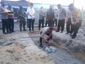 Kapolda Babel Lakukan Peletakkan Batu Pertama Pembangunan Gedung Satbinmas Dan Satnarkoba Polres Belitung