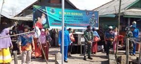 Masyarakat Nelayan pesisir pangkal arang  dapat 400 Paket Sembako dari Danlanal Babel