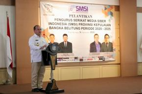 Gubernur Erzaldi Lantik Pengurus Serikat Media Siber Indonesia Kepulauan Babel