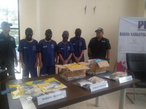 BNNP Babel Tangkap 4 Pelaku Sabu Asal Aceh Senilai Rp1,5 Miliar