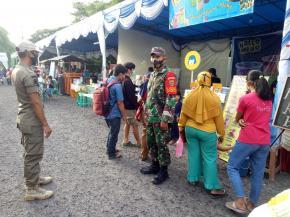 Pantang Menyerah, Serma Suminto Terus Menghimbau Warga Terapkan Protokol Kesehatan