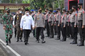 Gubernur Erzaldi Pimpin Apel Gelar Pasukan Operasi Ketupat Menumbing 2021