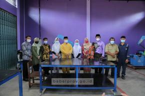 Gubernur Erzaldi Pantau Pelaksanaan Pembelajaran Tatap Muka Smansa Simpang Teritip