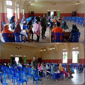 Danramil 414-01/Tanjungpandan Pantau Pendistribusian BST