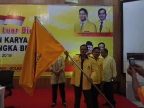 """Aklamasi, Hendra Appolo Ketua Golkar Babel"""" Bambang Patijaya Dan Heri Erfian Mundur"""