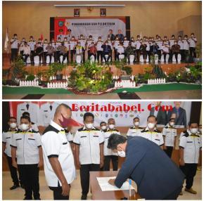 Kamarudin Resmi Menjabat Sebagai Ketua KONI Belitung Timur Periode 2021- 2025