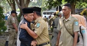 Tarmizi Berpamitan Pada Pegawai Sebagai Bupati Bangka